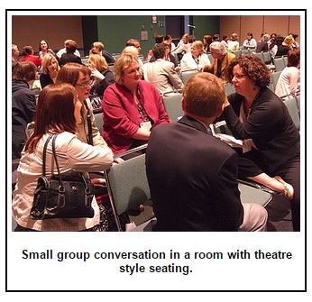 lecture seating conversation